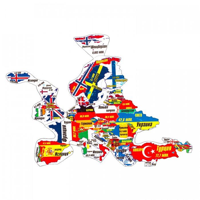 Геомагнит Магнитный пазл ЕвропаМагнитный пазл ЕвропаМагнитный пазл Европа в котором элементами являются страны Европы в контурах своих географических границ (за исключением европейской части РФ).  Пазл собирается в политическую карту, на которой все части света выполнены в единой картографической проекции и одном масштабе.  Контурный магнитный пазл помогает изучать названия государств, их столиц и национальные флаги, размеры стран и форму их границ и взаимное расположение, соседство стран и регионов и примерную актуальную численность населения государств.  Пазл можно собирать как на ровной горизонтальной поверхности, так и на ровных вертикальных металлических поверхностях - магнитно-маркерной доске или холодильнике.<br>
