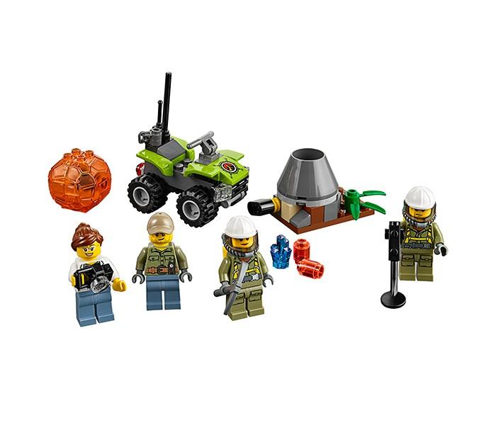 Конструктор Lego Город Набор для начинающих Исследователи ВулкановГород Набор для начинающих Исследователи ВулкановLego City Город Набор для начинающих Исследователи Вулканов собирается из 83 деталей и включает 4 минифигурки. Отважные исследователи отправляются к подножью вулкана в поисках загадочных кристаллов, спрятанных в прозрачных шарах, разбить которые не так-то просто! Кирка поможет справиться с этой задачей. Профессиональный фотограф готова запечатлеть каждый волнующий миг этой захватывающей экспедиции!  В наборе: Машина с подвижными колесами 4 минифигурки исследователей Аксессуары (кирка, фотоаппарт, металлоискатель и др.) Прозрачный шар с кристаллом внутри<br>