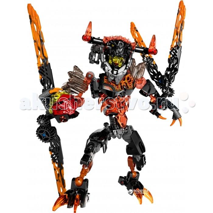 Конструктор Lego Биониклы Лава-МонстрБиониклы Лава-МонстрLego Bionicle Биониклы Лава-Монстр  Этот Лава-Монстр - противник Таху. Он может сорвать с героя Маску Стихии и захватить ее силы! Лава-Монстр, как и другие монстры, были призваны из самых темных глубин Окото, чтобы помочь Умараку-Охотники победить Тоа.  Внешне Лава-Монстр напоминает Минотавра из-за огромной головы с огненными рогами. На торсе, руках и ногах - полупрозрачные красные элементы брони, острые когти с легкостью могут повредить противника. Оружие монстра устрашающее: на одной руке расположились прозрачные лавовые крылья, потоком воздуха сбивающие с ног, а в другой - огромные лезвия для резки лавы, от которых не так-то просто увернуться! Поворачивайте колесики на оружии, чтобы Лава-Монстр совершал удары!  Напоминает Минотавра: рогатая маска на голове, черно-красные элементы брони Оружие закреплено на руках: лавовые лезвия и лавовые крылья Совершает удары при повороте колесиков В комплекте - Маска стихии Огня Таху<br>