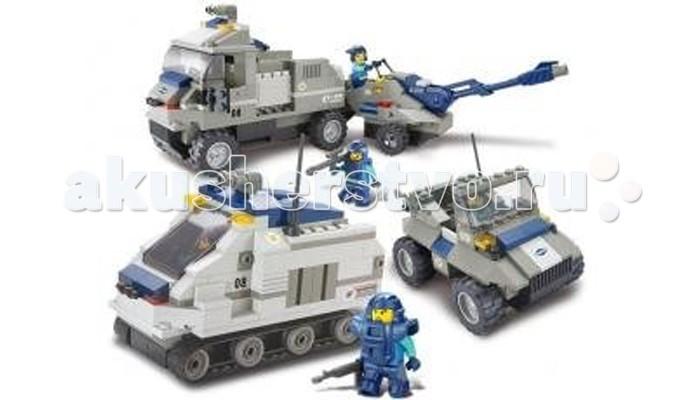 Конструктор Sluban Военный спецназ BOX M38-B0208R (467 элементов)Военный спецназ BOX M38-B0208R (467 элементов)Конструктор Sluban Военный спецназ BOX M38-B0208R (467 элементов). Сборная модель, состоящая из 467 деталей, которая станет не только занимательным развлечением для ребенка, но и окажет помощь в развитии таких необходимых навыков, как усидчивость, терпение и сосредоточенность.  Красочные детали для сборки без особого труда скрепляются между собой, прочно держатся и которые можно собирать и разбирать многократно.   Конструктор познакомит ребенка с определениями цвета и формы, даст начальные представления о конструировании, а также научит понимать различие между не подходит и подходит.<br>