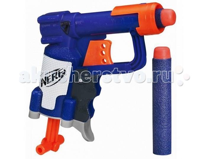 Nerf Nerf Бластер Элит ДжолтNerf Бластер Элит ДжолтNerf Бластер Элит Джолт - это замечательная забава для детей и взрослых. Ведь бластер имеет очень легкую, надежную и простую конструкцию, а может стрелять на расстояние до 20 метров! Патроны специально разработаны мягкими и легкими, чтобы игра была веселой, а главное, безопасной. Данная модель - Элит Джолт - самый компактный образец из всей серии. Он без труда поместится в карман или в небольшую сумку. Играть с ним можно как в помещении так и на улице. Так же можно устраивать соревнования в дальности выстрела и меткости попадания в мишень.  В комплект входит:  Бластер Элит Джолт Патрон 2 шт.<br>