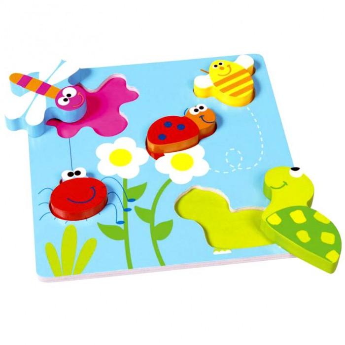 Деревянная игрушка Scratch   Пазл-вкладыш СадПазл-вкладыш СадScratch Пазл-вкладыш Сад.  С такой игрой Вы с малышом выполните целую серию заданий на развитие мелкой моторики, памяти, внимания, цветоразличения.<br>