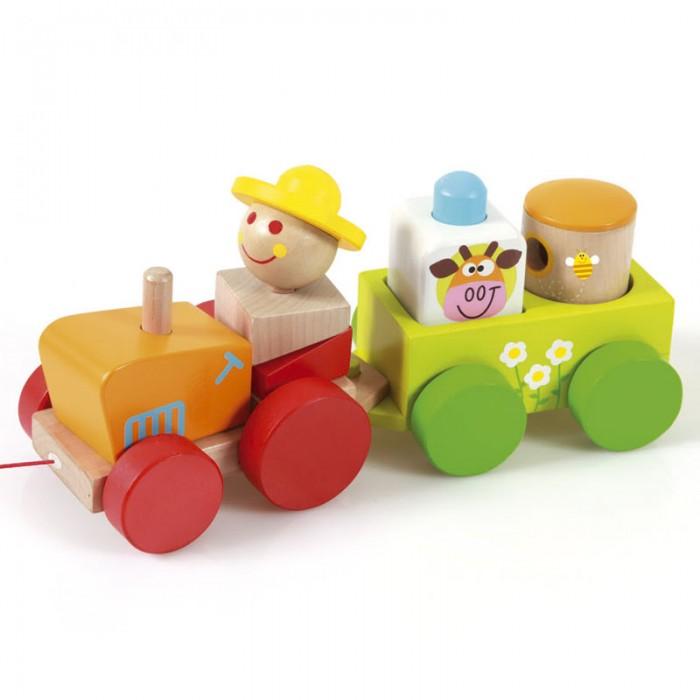 Деревянная игрушка Scratch   Трактор Чарли