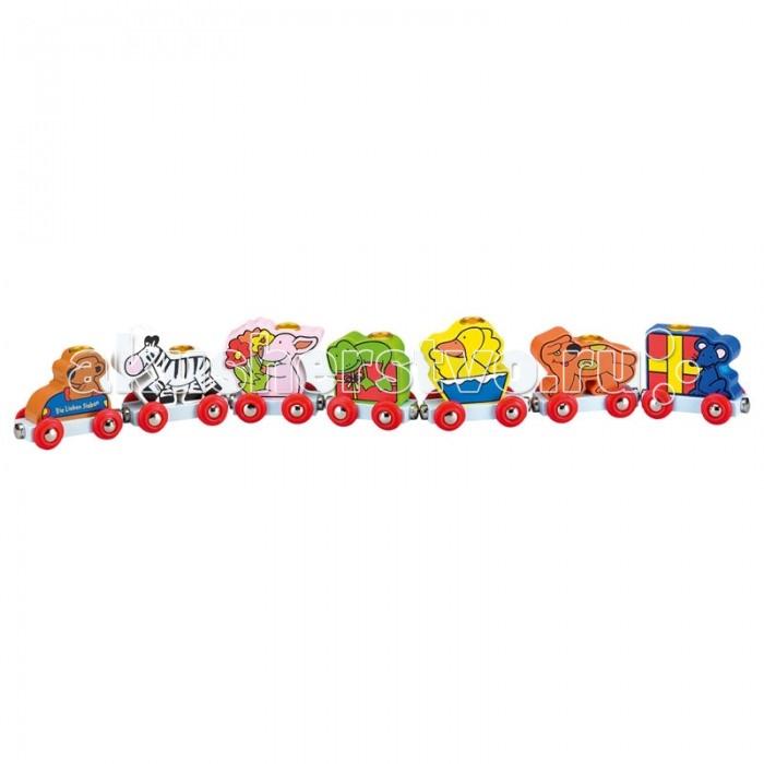 Деревянная игрушка Spiegelburg паровозик Die Lieben Sieben