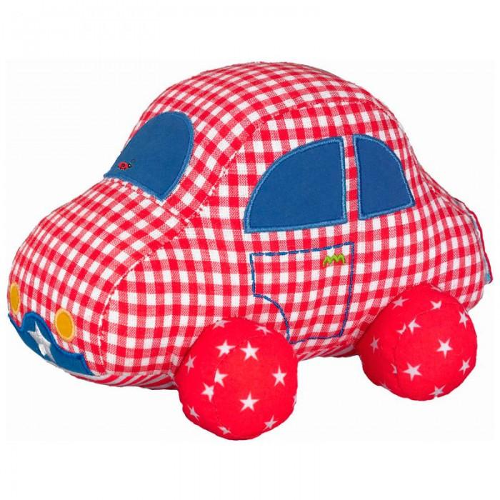 Мягкая игрушка Spiegelburg Автомобиль Baby GluckАвтомобиль Baby GluckSpiegelburg Автомобиль Baby Gl&#252;ck.  Игрушка Baby Gluck для самых маленьких автомобилистов. Выполнена полностью из хлопка с наполнением полиэстер. Яркая клетчатая машинка имеет багажник на липучке, в котором находится веревочка, потянув за нее малыш приведет ее в движение.<br>