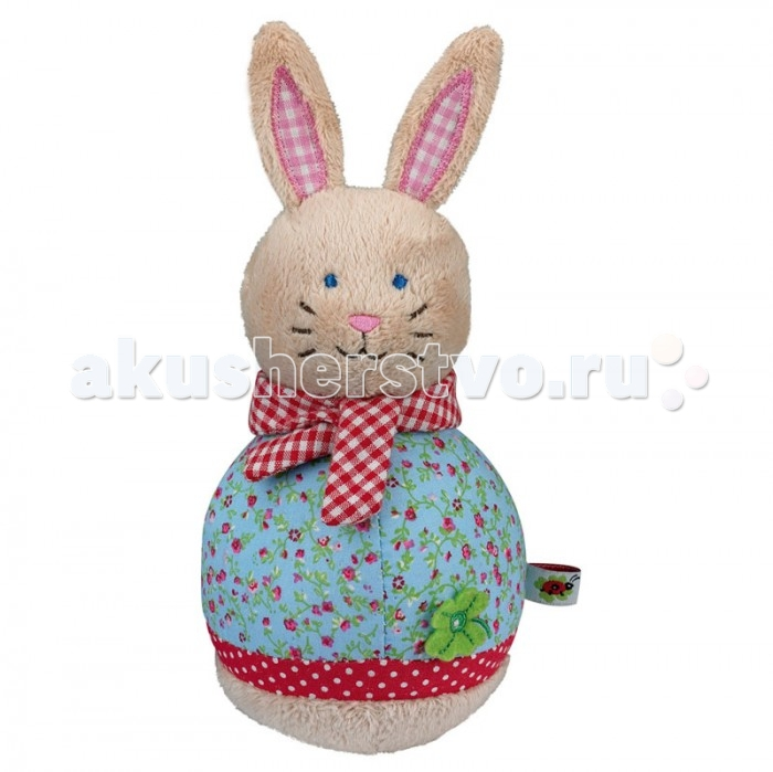 Мягкая игрушка Spiegelburg Кролик неваляшка Baby GluckКролик неваляшка Baby GluckSpiegelburg Кролик неваляшка Baby Gluck.  Кролик неваляшка Baby Gluck от немецкой компании Spiegelburg. Игрушки неваляшки с давних времен веселят детишек, а значит, вам тоже стоит подарить своему малышу такую игрушку. Неваляшка выполнена в виде милого кролика с клетчатым шарфиком. У кролика голубые глазки и красивое платье. Когда малыш будет толкать его, то кролик будет возвращаться в исходное положение, что сразу развеселит и обрадует ребенка.  Кролик сделан из высококачественных материалов, которые не вызывают аллергию и раздражение у детишек. Если он станет грязным или запылится, то его можно помыть. Игра с неваляшкой развивает у ребенка наблюдательность и логическое мышление.  Вашему малышу обязательно понравится Кролик неваляшка Baby Gluck от немецкой компании Spiegelburg.<br>
