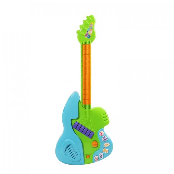 Музыкальная игрушка Potex Гитара 12 ладов 614ВГитара 12 ладов 614ВМузыкальная игрушка Potex Гитара 12 ладов 614В. Детство – самая лучшая пора, чтобы научиться играть на музыкальном инструменте, например на гитаре.   Игра на музыкальных инструментах оказывает воздействие на общее развитие: формируется эмоциональная сфера, совершенствуется мышление, ребенок делается чутким к красоте в искусстве и жизни.   Игра на детской гитаре обогащает музыкальные впечатления ребенка, развивает творческие способности и чувство ритма. Кроме того, игра на гитаре развивает волю, стремление к достижению цели, воображение.<br>