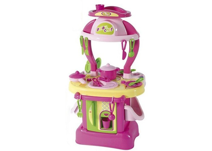 Полесье Набор Кухня Изящная № 1Набор Кухня Изящная № 1Полесье Набор Кухня Изящная № 1 полностью оправдывает свое название! Этот набор розового цвета обязательно понравится маленькой принцессе. На этой кухне есть мойка, варочная поверхность, удобные полочки для хранения посуды.  Особенности: При помощи этой восхитительной кухни ваша девочка научится самостоятельно готовить изысканные блюда.  Набор включает в себя игровую кухоньку, а также 21 столовый аксессуар, с которым игра станет значительно увлекательней. В наборе есть стаканы, тарелки, ложки, вилки, кастрюля, сковорода и многое другое.  Все игрушки выполнены из высококачественного пластика, не токсичного и безопасного для здоровья.  Кухня выполнена в зеленом и розовом цветах и имеет стильный дизайн, который сразу привлекает внимание.  В кухню встроена игрушечная конфорка и мойка.  Наверху имеется наклейка с изображением часов.  Размеры (ДхШхВ): 43х26х73 см<br>