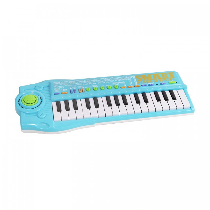 Музыкальная игрушка Potex Синтезатор Smart Piano 32 клавиши 939ВСинтезатор Smart Piano 32 клавиши 939ВМузыкальная игрушка Potex Синтезатор Smart Piano 32 клавиши 939В. Для развития музыкального таланта и проявления творческих способностей, предлагаем вашему вниманию детский синтезатор, который имеет дополнительные мелодии и инструментальные звуки.   Компактный синтезатор не займет дома много места, поэтому его очень удобно использовать в качестве домашнего музыкального инструмента. Яркий синтезатор оснащен функцией записи и воспроизведения, а так же очень прост в использовании, в следствие чего Вашему ребенку не составит труда приобщиться к миру музыки, при этом обогатив внутренний мир.<br>