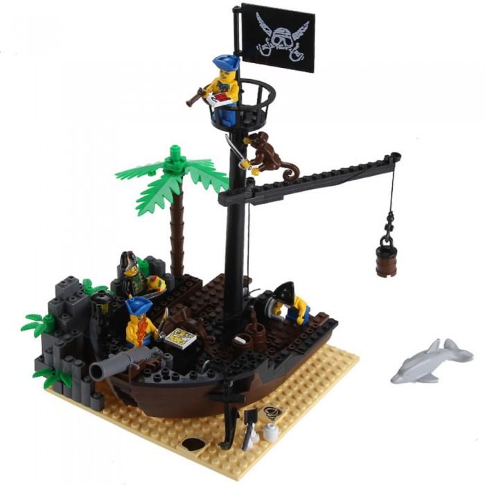 Конструктор Enlighten Brick Пиратский док 306 (178 элементов)Пиратский док 306 (178 элементов)Конструктор Enlighten Brick Пиратский док 306 (178 элементов). Конструктор - отличная игрушка для детей любого возраста. Он учит быть усидчивым и концентрироваться на достижение цели, развивает пространственное и логическое мышление, дает ребенку возможность анализировать и проявить творческий подход.   Дети любят все делать самостоятельно, так они познают мир, поэтому играть игрушкой, которую они собрали своими руками, особенно приятно.   Яркие элементы придутся по вкусу вашему ребенку.  В наборе 178 деталей.<br>