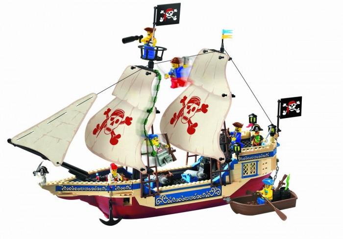 Конструктор Enlighten Brick Пиратский корабль 311 (487 элементов)Пиратский корабль 311 (487 элементов)Конструктор Enlighten Brick Пиратский корабль 311 (487 элементов). Конструктор - отличная игрушка для детей любого возраста. Он учит быть усидчивым и концентрироваться на достижение цели, развивает пространственное и логическое мышление, дает ребенку возможность анализировать и проявить творческий подход.   Дети любят все делать самостоятельно, так они познают мир, поэтому играть игрушкой, которую они собрали своими руками, особенно приятно.   Яркие элементы придутся по вкусу вашему ребенку.  В наборе 487 деталей.<br>