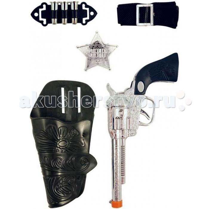 Zhorya Детский игровой набор КовбойДетский игровой набор КовбойДетский игровой набор Ковбой  Детский набор ковбоя. В набор входит два пистолета, кобура и значок шерифа.<br>