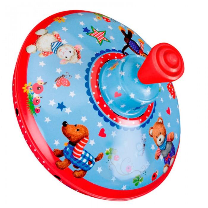 Развивающая игрушка Spiegelburg Юла Baby GluckЮла Baby GluckSpiegelburg Юла Baby Gluck.  Юла Baby Gluck от немецкой компании Spiegelburg. Перед вами очаровательная детская юла, которая поможет вашему малышу весело провести время. Юла сделана из прочного и долговечного металла. На ней нарисованы веселые зверушки, звездочки и сердечки, которые будут интересно смотреться, когда юла будет крутиться. Чтобы юла начала вертеться, нужно поднять рычажок в верхней части, а затем опустить его до конца.  Играя с юлой, ребенок будет развивать логическое мышление и мелкую моторику рук, распознавание цветов и рисунков, а также тактильные навыки. Кроме того, это чрезвычайно весело и интересно. Если хотите порадовать вашего ребенка, вручите ему Юлу Baby Gluck от немецкой компании Spiegelburg.<br>