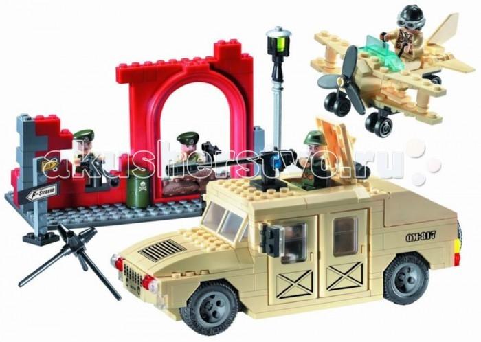 Конструктор Enlighten Brick Джип военный 817 (323 элемента)Джип военный 817 (323 элемента)Конструктор Enlighten Brick Джип военный 817 (323 элемента). Конструктор - отличная игрушка для детей любого возраста. Он учит быть усидчивым и концентрироваться на достижение цели, развивает пространственное и логическое мышление, дает ребенку возможность анализировать и проявить творческий подход.  Конструктор также помогает осваивать социальные роли, ребенок понимает, что, например, у людей и животных должен быть свой дом. После того, как конструктор собран ребенок может примерить на себя любую роль в разных тематиках: бытовых, военных, исторических, фантастических.   Состоит из 323 деталей.<br>