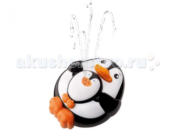Hap-p-Kid Игрушка для купания Брызгалка ПингвиненокИгрушка для купания Брызгалка ПингвиненокЗабавный пингвиненок-брызгалка для купания в ванной или просто для игры в воде.  В игрушку набирается вода и при нажатии на нос, пингвиненок выпускает фонтанчик воды, приводя в восторг малыша.  Игра в воде развивает ловкость малыша и координацию движений.  Игрушка работает от батареек: 2(ААА)шт - нет в наборе.<br>