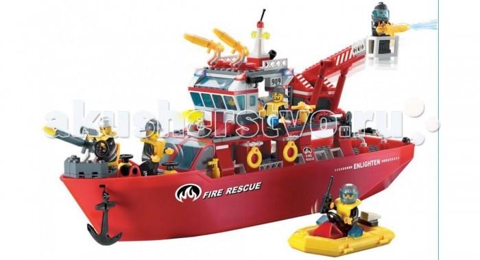 Конструктор Enlighten Brick Fire Rescue 909 (361 элемент)Fire Rescue 909 (361 элемент)Конструктор Enlighten Brick Fire Rescue 909 (361 элемент). Конструктор - отличная игрушка для детей любого возраста. Он учит быть усидчивым и концентрироваться на достижение цели, развивает пространственное и логическое мышление, дает ребенку возможность анализировать и проявить творческий подход.  Конструктор также помогает осваивать социальные роли, ребенок понимает, что, например, у людей и животных должен быть свой дом. После того, как конструктор собран ребенок может примерить на себя любую роль в разных тематиках: бытовых, военных, исторических, фантастических.   Состоит из 361 детали.<br>