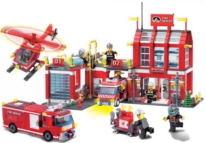 Конструктор Enlighten Brick Fire Rescue 911 (980 элементов)Fire Rescue 911 (980 элементов)Конструктор Enlighten Brick Fire Rescue 911 (980 элементов). Конструктор - отличная игрушка для детей любого возраста. Он учит быть усидчивым и концентрироваться на достижение цели, развивает пространственное и логическое мышление, дает ребенку возможность анализировать и проявить творческий подход.  Конструктор также помогает осваивать социальные роли, ребенок понимает, что, например, у людей и животных должен быть свой дом. После того, как конструктор собран ребенок может примерить на себя любую роль в разных тематиках: бытовых, военных, исторических, фантастических.   Состоит из 980 деталей.<br>