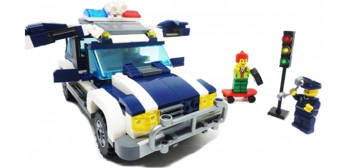 Конструктор Enlighten Brick Джип полиции 1117 (394 элемента)Джип полиции 1117 (394 элемента)Конструктор Enlighten Brick Джип полиции 1117 (394 элемента). Конструктор - отличная игрушка для детей любого возраста. Он учит быть усидчивым и концентрироваться на достижение цели, развивает пространственное и логическое мышление, дает ребенку возможность анализировать и проявить творческий подход.  Конструктор также помогает осваивать социальные роли, ребенок понимает, что, например, у людей и животных должен быть свой дом. После того, как конструктор собран ребенок может примерить на себя любую роль в разных тематиках: бытовых, военных, исторических, фантастических.   Состоит из 394 деталей.<br>