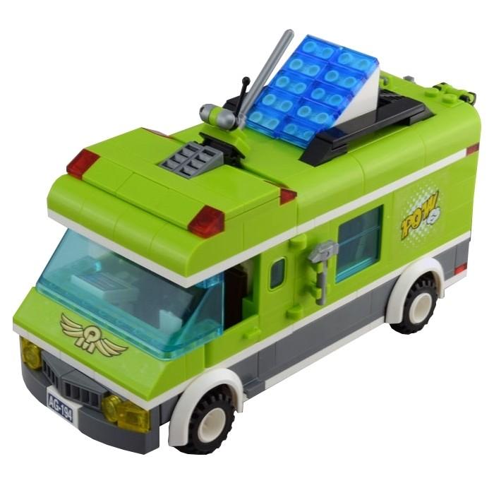 Конструктор Enlighten Brick Зелёный фургон 1120 (380 элементов)Зелёный фургон 1120 (380 элементов)Конструктор Enlighten Brick Зелёный фургон 1120 (380 элементов). Конструктор - отличная игрушка для детей любого возраста. Он учит быть усидчивым и концентрироваться на достижение цели, развивает пространственное и логическое мышление, дает ребенку возможность анализировать и проявить творческий подход.  Конструктор также помогает осваивать социальные роли, ребенок понимает, что, например, у людей и животных должен быть свой дом. После того, как конструктор собран ребенок может примерить на себя любую роль в разных тематиках: бытовых, военных, исторических, фантастических.   Состоит из 380 деталей.<br>