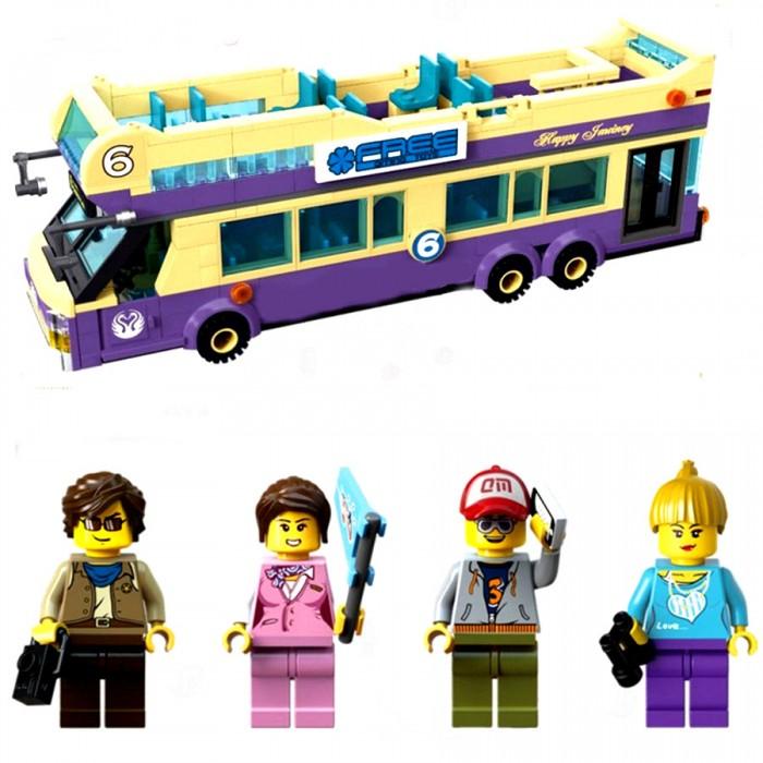 Конструктор Enlighten Brick Туристический автобус 1123 (455 элементов)Туристический автобус 1123 (455 элементов)Конструктор Enlighten Brick Туристический автобус 1123 (455 элементов). Конструктор - отличная игрушка для детей любого возраста. Он учит быть усидчивым и концентрироваться на достижение цели, развивает пространственное и логическое мышление, дает ребенку возможность анализировать и проявить творческий подход.  Конструктор также помогает осваивать социальные роли, ребенок понимает, что, например, у людей и животных должен быть свой дом. После того, как конструктор собран ребенок может примерить на себя любую роль в разных тематиках: бытовых, военных, исторических, фантастических.   Состоит из 455 деталей.<br>