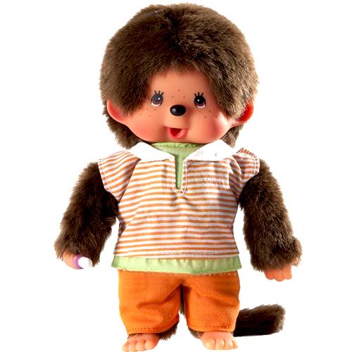 Мягкие игрушки Sekiguchi Обезьянка Monchhichi мальчик в оранжевых штанишках