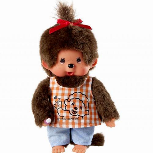 Мягкие игрушки Sekiguchi Обезьянка Monchhichi девочка в тунике