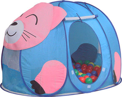 Палатки-домики Calida Дом-палатка + 100 шаров Котёнок