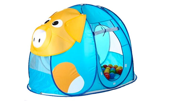 Палатки-домики Calida Дом-палатка + 100 шаров Поросенок
