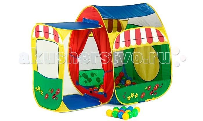Calida Дом-палатка + 100 шаров Домик с пристройкой