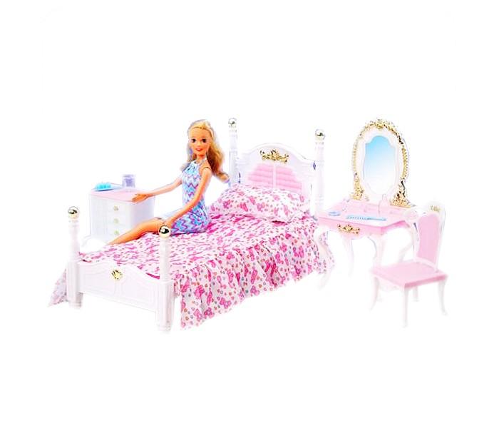 Gloria Набор игровой Спальня 2319Набор игровой Спальня 2319Gloria Набор игровой Спальня 2319. Ваша малышка с удовольствием будет играть с этим набором, придумывая различные истории. В уютной спальни есть все необходимое для отдыха и чуткого сна.   В набор входит кровать, столик с зеркалом, тумбочка и стульчик.   Порадуйте малышку таким замечательным набором!<br>