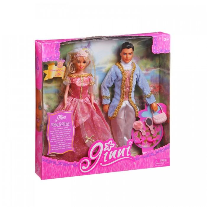 Jinni Кукла Золушка с принцем 83066Кукла Золушка с принцем 83066Jinni Кукла Золушка с принцем 83066. Шикарный набор Золушки и Принца оценит любая девочка, любящая играть в куклы. Теперь любимая кукла Золушка и Принц навсегда вместе! С таким набором можно устраивать сюжетно - ролевые игры по знаменитой сказки о Золушки.   В набор входит кукла Золушка и принц в шикарных нарядах.<br>