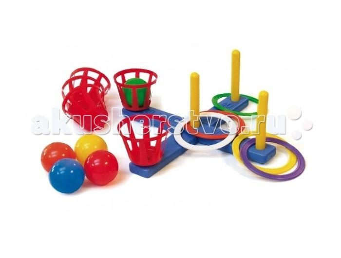 Baster Кольцеброс с корзинами и мячами WG-04Кольцеброс с корзинами и мячами WG-04Спортивная игра Кольцеброс с корзинами и мячами WG-04.   Цель играющих - набросить кольца с установленного расстояния на один из четырех вертикальных стержней, так чтобы кольца оказались надетыми на стержень, или же попасть мячом в корзину (корзины и стержни съемные).   Прекрасно развивает координацию движений. Стимулирует двигательную активность.   Комплектность: кольцеброс, 5 колец, 4 корзины, 4 шарика.<br>