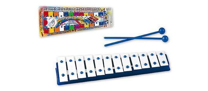 Музыкальная игрушка Marek Металлофон 12 тонов в упаковкеМеталлофон 12 тонов в упаковкеЭтот красивый металлофон - настоящий музыкальный инструмент.   Ребенок с удовольствием будет извлекать волшебные звуки из этого инструмента, и даже наигрывать мелодии известных песенок!   В комплекте: металлофон; 2 палочки<br>