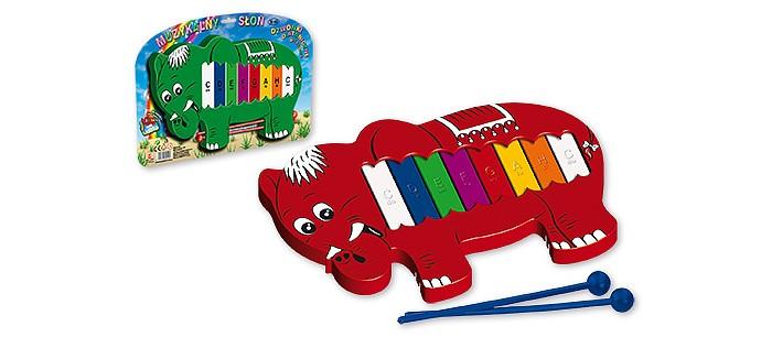 Музыкальная игрушка Marek Металлофон Слон