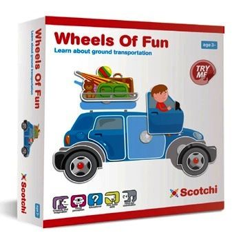 Игры для школьников Scotchi Игра настольная Веселый транспорт 20017