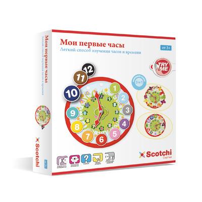 Игры для школьников Scotchi Игра настольная Мои первые часы 20026