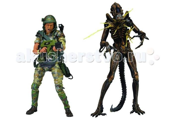 Neca ������� Aliens (�����) 7 Hudson vs Brown Warrior 2 Pack