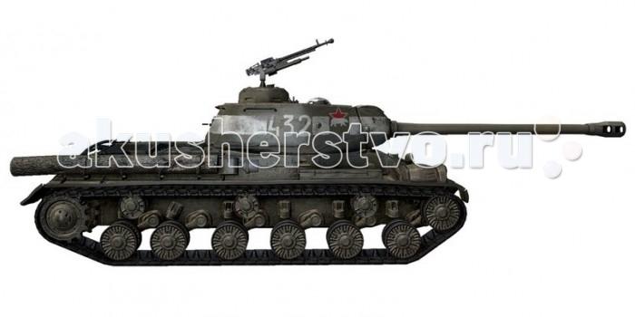 World Of Tanks Модель танка ИС-2 масштаб 1:72Модель танка ИС-2 масштаб 1:72World of Tanks Модель танка ИС-2 масштаб 1:72  Советский премиумный тяжелый танк 7 уровня приуроченный к 70-летию Великой Победы. Тяжёлый танк ИС-2 (ИC-122) стал результатом модернизации танка ИС-1 и с 1944 года получил более простую в изготовлении литую лобовую деталь. В составе отдельных гвардейских тяжёлых танковых полков ИС-2 активно использовался для штурма укреплённых городов, таких как Будапешт, Бреслау, Берлин. Для взаимного опознавания на такие машины наносились специальные тактические знаки — белые полосы. Данная модель представляет танк 7-й Гвардейской тяжёлой танковой бригады, фотография которого на фоне Бранденбургских ворот приобрела всемирную известность.   ИС-2 являлся самым мощным и наиболее тяжелобронированным из советских серийных танков периода войны, и одним из сильнейших танков на то время в мире. Танки этого типа сыграли большую роль в боях 1944—1945 годов, особенно отличившись при штурме городов. После завершения войны ИС-2 были модернизированы и находились на вооружении Советской и Российской армий до 1995 года. Также танки ИС-2 поставлялись в ряд стран и участвовали в некоторых послевоенных вооружённых конфликтах.  Комплектация Металлическая модель масштаб 1:72 Внимание: Данный товар идет без бонус-кода к игре World of Tanks и фирменной подставки!<br>