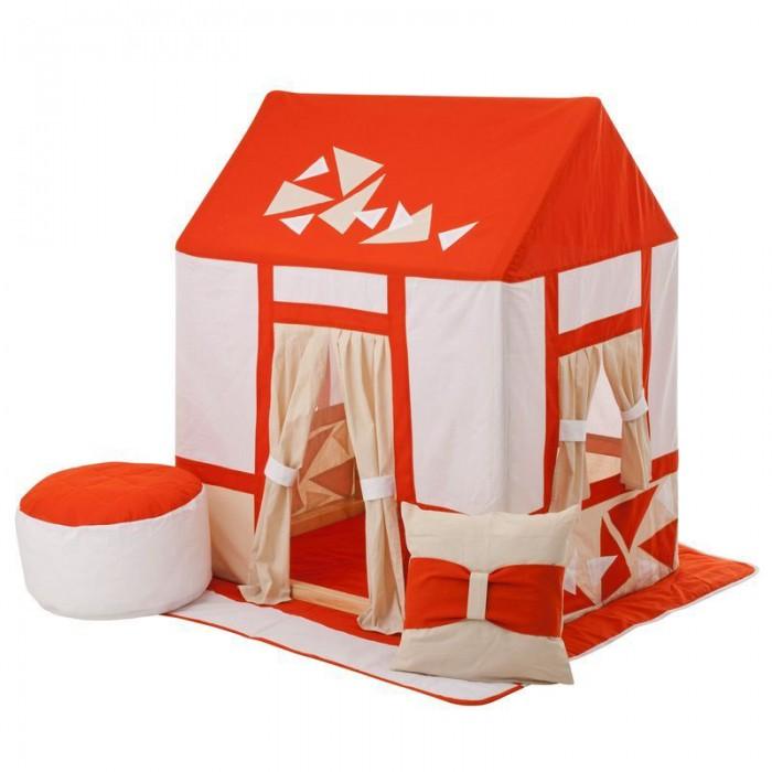Paremo Текстильный домик с пуфиком Замок СомерсетТекстильный домик с пуфиком Замок СомерсетParemo Текстильный домик с пуфиком Замок Сомерсет PCR116-03   Текстильный домик-палатка с пуфиком Замок Сомерсет PAREMO разработан для девочек и мальчиков старше 3-летнего возраста, поскольку именно в этот период основной детской активностью становится сюжетно-ролевая игра, и возникает потребность в организации отдельного личного пространства. Самым оптимальным решением для совмещения 2-ух этих важных для становления личности ребенка потребностей является оснащение персонального игрового пространства. В помощь мамам и папам дизайнеры PAREMO разработали новую серию закрытых игровых текстильных домиков, ярких и функциональных.  - Игровая палатка для детей Замок Сомерсет представляет собой домик с деревянным каркасом и хлопковым стилизованным чехлом, фиксирующемся завязками в основании домика. - Каркас деревянный, требует сборки перед началом эксплуатации. По размерам подходит под стандартные дверные проемы, облегчая перемещение игрушки между комнатами квартиры. - Текстильная часть домика выполнена в сочетании 3-х цветов, оранжевого, белого и бежевого, с отделками в виде кирпичных вставок и нежными бежевыми шторками. - В домике большой дверной проем и 2 окошка. Дверь и окна смягчают образ домика пастельными шторками, которые можно либо открыть, используя подвязки на проемах, либо полностью закрыть. - Все текстильные элементы легко снимаются, что очень удобно для стирки и ухода за игрушкой.  В комплект поставки игрового набора «Замок Сомерсет» входит: - Каркас дома; - Игровой чехол в виде домика; - Двусторонний игровой коврик в основание домика; - Подушка; - Пуфик; - Фурнитура для сборки каркаса; - Инструкция по сборке.  Отличительные особенности: Игрушку отличает стильный и яркий дизайн домика с украшениями в виде кирпичной кладки, который, несомненно, порадует мальчишек и девчонок. Но главным достоинством игрового набора «Замок Сомерсет» PAREMO являются его комплектность и габар