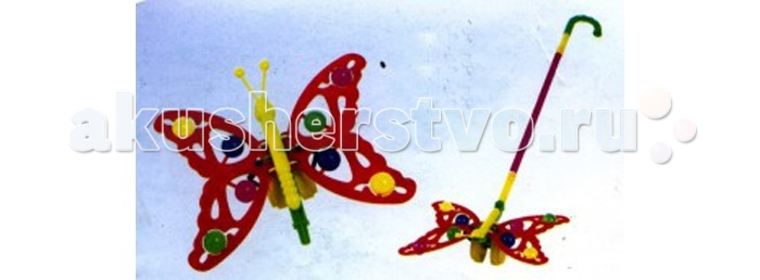 Каталка-игрушка Rabbit Бабочка с шариками