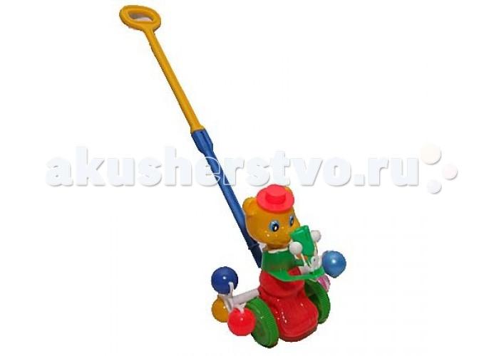 Каталка-игрушка Rabbit Мишка со звонкомМишка со звонкомКаталка Мишка со звонком обязательно привлечет внимание ребенка, на долго заняв его игрой.   Игрушка-каталка с ручкой в виде мишки со звонком предназначена для детей от 1 до 3 лет.  Игра с этой каталкой стимулирует двигательную активность и координацию движений.   Для начинающих ходить малышей каталка будет незаменимым помощником в этом нелегком деле.<br>
