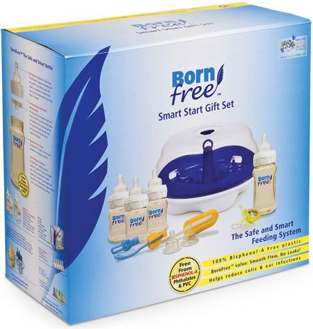 Наборы для новорожденных BornFree Подарочный набор Умное начало (9 предметов)
