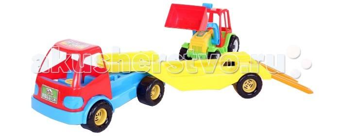 FCH Грузовик Монстер + прицеп с тракторомГрузовик Монстер + прицеп с тракторомFCH Грузовик Монстер + прицеп с трактором подарит массу радости и удовольствия Вашему ребёнку.  Любая современная игрушка — это больше, чем просто способ увлечь малыша. С их помощью дети познают окружающий мир, осваивают социальные роли, привыкают к ответственности, а занятия и их развитие будут проходить ярче и интереснее.   Игрушка сделана из яркого разноцветного пластика и понравиться любому малышу.<br>