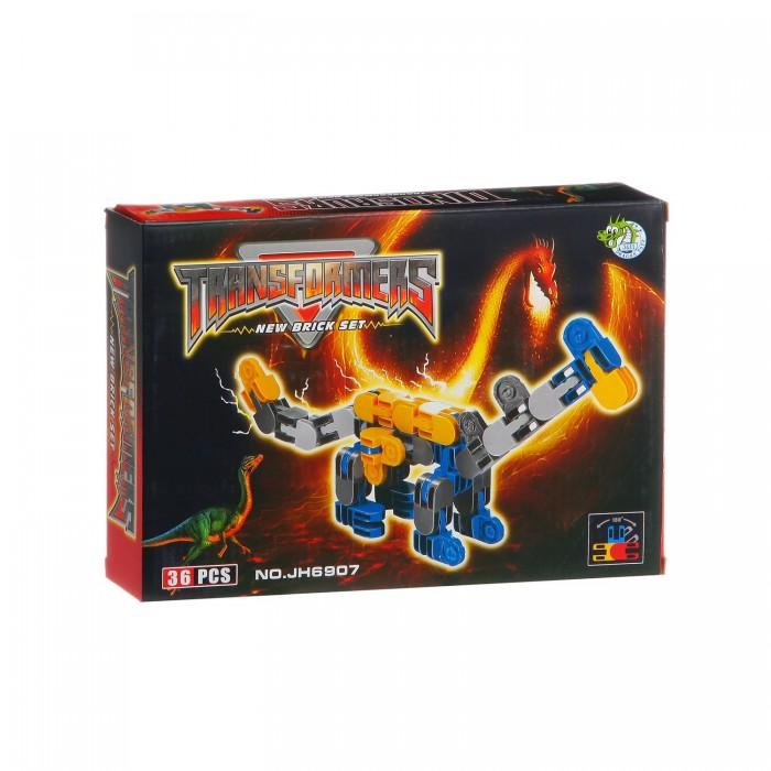 Конструктор Dragon Toys Страйп Трансформер-дракон JH6907 (35 элементов)Toys Страйп Трансформер-дракон JH6907 (35 элементов)Конструктор Dragon Toys Страйп Трансформер-дракон JH6907 (35 элементов). Конструктор - отличная игрушка для детей любого возраста. Он учит быть усидчивым и концентрироваться на достижение цели, развивает пространственное и логическое мышление, дает ребенку возможность анализировать и проявить творческий подход.  Состоит из 35 деталей.<br>