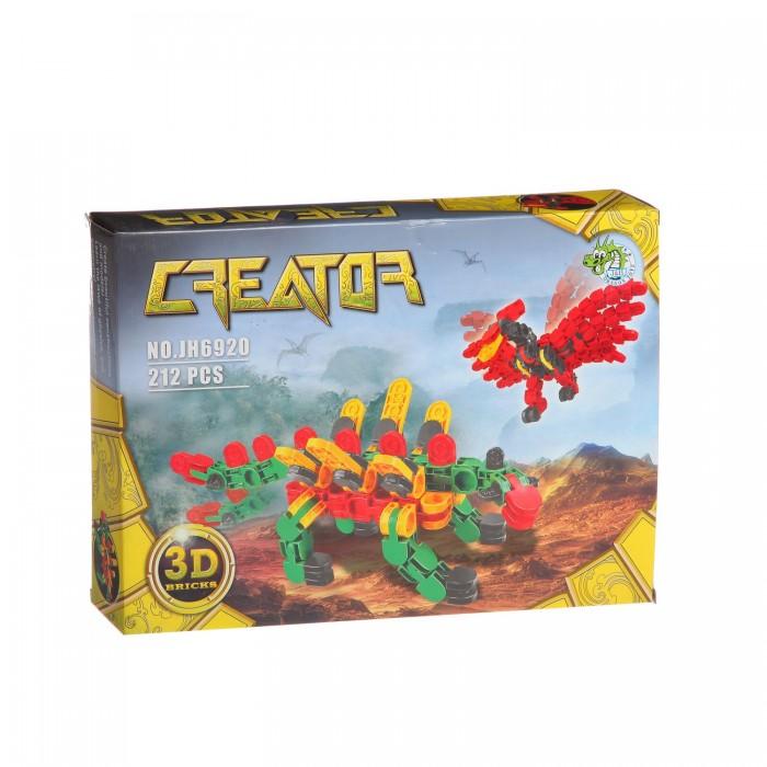 Конструктор Dragon Toys Страйп Динозавры JH6920 (212 элементов)Toys Страйп Динозавры JH6920 (212 элементов)Конструктор Dragon Toys Страйп Динозавры JH6920 (212 элементов). Конструктор - отличная игрушка для детей любого возраста. Он учит быть усидчивым и концентрироваться на достижение цели, развивает пространственное и логическое мышление, дает ребенку возможность анализировать и проявить творческий подход.  Состоит из 212 деталей.<br>