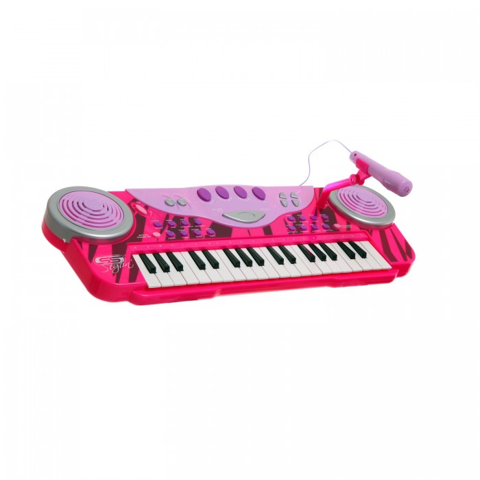 Музыкальная игрушка SS Music Синтезатор с микрофоном Musical Keyboard 40004Синтезатор с микрофоном Musical Keyboard 40004Музыкальная игрушка SS Music Синтезатор с микрофоном Musical Keyboard 40004. Для развития музыкального таланта и проявления творческих способностей, предлагаем вашему вниманию детский синтезатор, который имеет дополнительные мелодии и инструментальные звуки.   Компактный синтезатор не займет дома много места, поэтому его очень удобно использовать в качестве домашнего музыкального инструмента.   Яркий синтезатор оснащен функцией записи и воспроизведения, а так же очень прост в использовании, в следствие чего Вашему ребенку не составит труда приобщиться к миру музыки, при этом обогатив внутренний мир.<br>