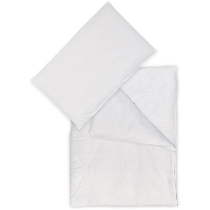 Одеяло Сонный гномик Комплект с подушкой БамбукКомплект с подушкой БамбукКомплект одеяло с подушкой с наполнителем из бамбукового волокна подарит комфорт и тепло. Бамбуковое волокно гиппоаллергенно, в нем не развиваются микроорганизмы, оно устойчиво к деформации. Комплект хорошо переносит стирку, не теряет форму, позволяет коже ребенка дышать.  Наполнитель: бамбук - 40%/полиэстер - 60%  Ткань — бязь: хлопок - 50%/полиэстер - 50% Размер: одеяло 140х110 см, подушка 40х60 см<br>