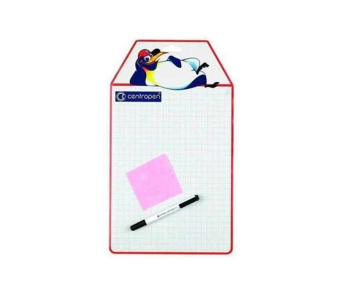 Centropen Доска детская маркерная А4Доска детская маркерная А4Centropen Доска детская маркерная А4  Доска детская для рисования форматом А4, (300 х 210 мм) в крупную клетку. имеет две рабочие стороны: одна чистая белая, вторая разлинована, что позволяет использовать такую доску для обучения. В комплект входит специальный маркер, который легко стирается и 2 текстильные салфетки.<br>