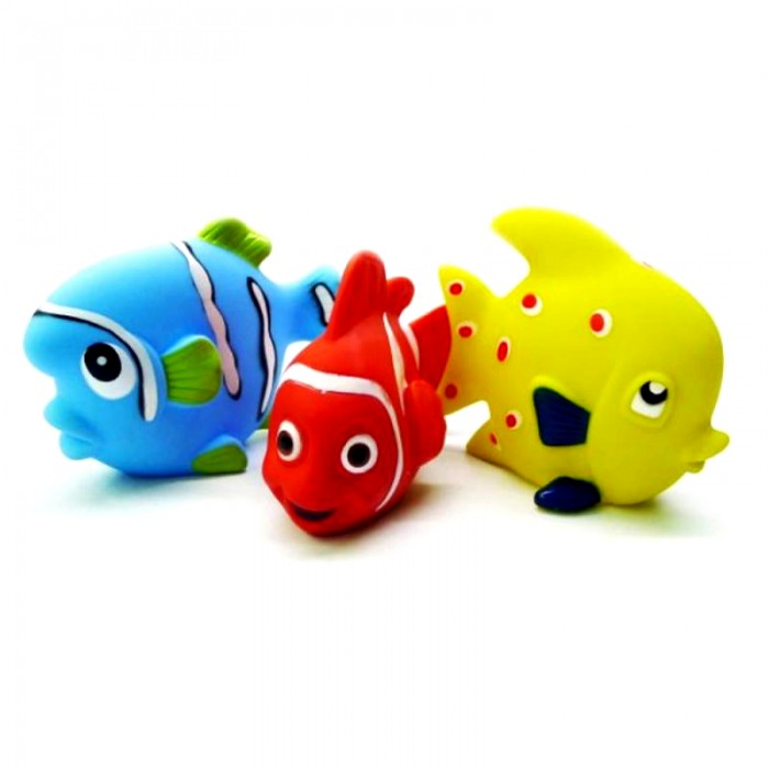 Жирафики Набор игрушек для ванны Маленькие рыбкиНабор игрушек для ванны Маленькие рыбкиЖирафики Набор игрушек для ванны Маленькие рыбки представляет собой замечательный комплект игрушек для ванны, который состоит из 3 фигурок.   Особенности: Три яркие разноцветные рыбки - голубого, красного и желтого цветов, привлекут внимание любознательного малыша.  Малыш с удовольствием будет купаться с ними в ванной или играть в другом месте, рассматривая их и ощупывая. При этом у ребенка развивается восприятие цвета и формы, а также сенсорика.<br>