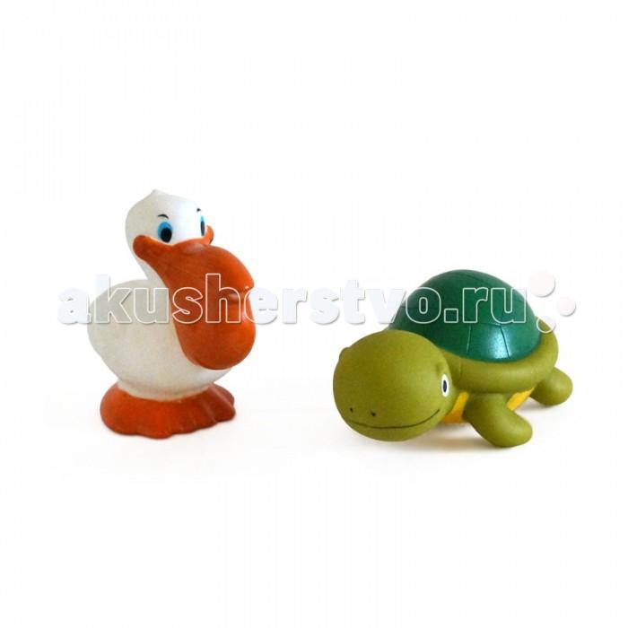 Жирафики Набор игрушек для ванны Черепаха и пеликан